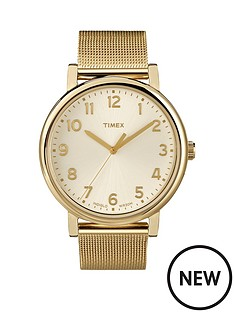 timex-timex-originals-cream-tone-dial-with-classic-gold-tone-mesh-bracelet-ladies-watch