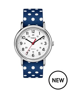 timex-timex-weekender-white-dial-with-navy-eand-white-dots-strap-ladies-watch