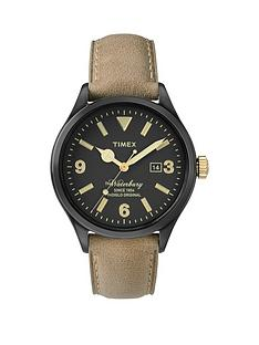 timex-the-waterbury-black-dial-with-tan-strap-mens-watch