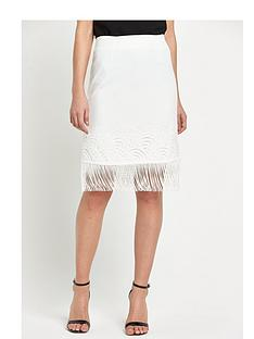 miss-selfridge-miss-selfridge-white-lace-fringe-skirt