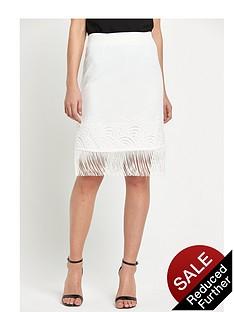 miss-selfridge-miss-selfridge-white-lace-fringe-skirt