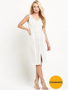miss-selfridge-chevron-lace-pencil-dress