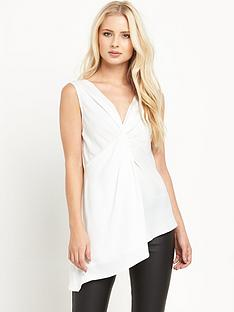 miss-selfridge-miss-selfridge-white-twist-tunic