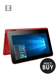 hp-pavilion-x360-11-k102na-intel-celeron-4gb-ram-500gb-storage-116-inch-touchscreen-2-in-1-laptop-sunset-red