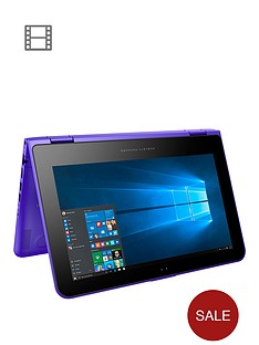 hp-pavilion-x360-11-k104na-intel-celeron-4gb-ram-500gb-storage-116-inch-touchscreen-2-in-1-laptop-purple