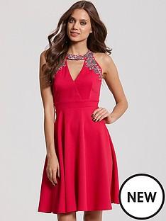 little-mistress-embellished-cut-out-dress
