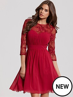 little-mistress-little-mistress-sequin-fit-and-flare-dress