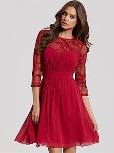little-mistress-sequin-fit-n-flare-dress