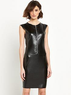 replay-fauxnbspleather-wet-look-dressnbsp