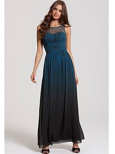 little-mistress-little-mistress-dip-dye-embellished-neck-maxi-dress