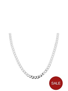 keepsafe-keepsafe-personalised-initial-sterling-silver-20-inch-diamond-cut-curb-chain