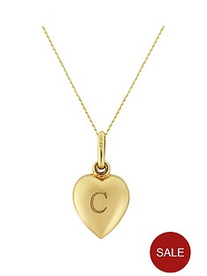 keepsafe-keepsafe-personalised-initial-9ct-yellow-gold-heart-pendant