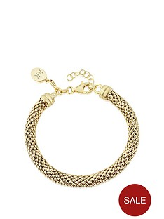 keepsafe-keepsafe-gold-plated-sterling-silver-popcorn-bracelet-with-personalised-clip-charm