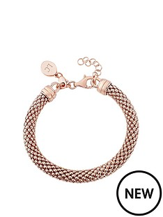 keepsafe-keepsafe-rose-gold-plated-sterling-silver-popcorn-bracelet-with-personalised-clip-charm