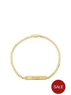 keepsafe-keepsafe-personalised-9ct-yellow-gold-identity-diamond-cut-curb-bracelet