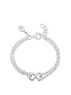 keepsafe-keepsafe-sterling-silver-double-row-infinity-bracelet-with-personalised-clipcharm