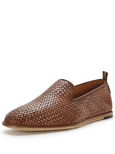 hudson-hudson-ipanema-leather-woven-slip-on