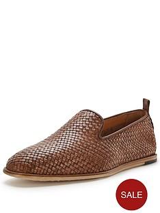 hudson-hudson-ipanema-leather-woven-slip-on