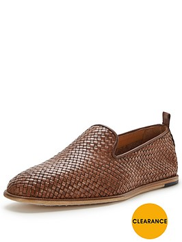 hudson-ipanema-leather-woven-slip-on
