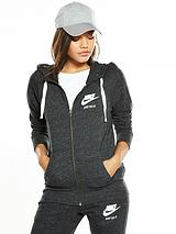 Gym Vintage Full-Zip Hooded Top
