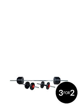 everlast-25kgnbspvinyl-dumbellbarbell-set