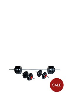 everlast-50kgnbspvinyl-dumbellbarbell-set