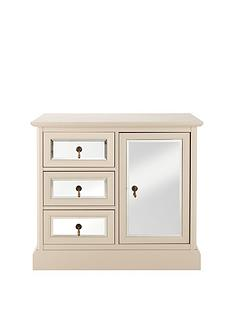 ritz-1-door-3-drawer-compact-sideboard-with-mirrored-cream