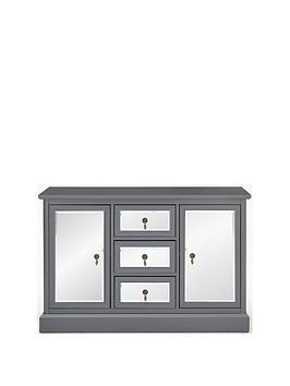 Lauren Large Mirrored Sideboard  Grey