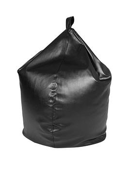 large-faux-leather-beanbag