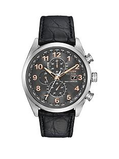 citizen-citizen-eco-drive-039world-chronograph-at-limited-edition039-radio-controlled-crocodile-strap-men039s-wat