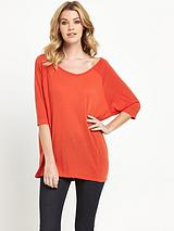V NECK FASHION OVERSIZE TOP