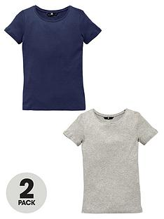 v-by-very-pack-2-crew-neck-rib-t-shirts
