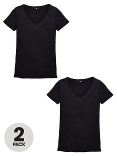 v-by-very-2-pack-v-neck-rib-t-shirts
