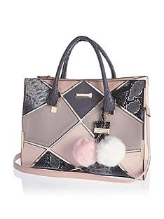 river-island-patchwork-tote-bag