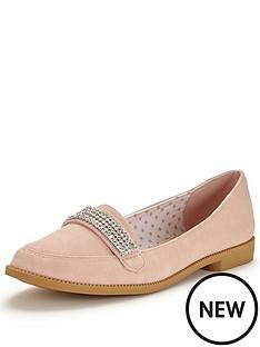 v-by-very-tessa-diamante-trim-pretty-loafer-nude