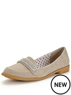 v-by-very-tessa-diamante-trim-pretty-loafer-grey