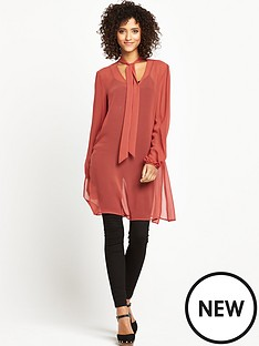 v-by-very-tie-neck-tunic-top