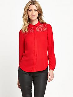 v-by-very-lace-detail-pocket-blouse