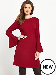 v-by-very-fluted-sleeve-a-line-dress