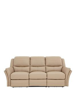 Perkin 3Seater Leather Manual Recliner Sofa