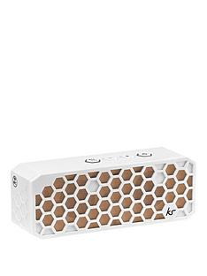 kitsound-hive-2-bluetooth-wireless-portable-stereo-speaker-white-and-rose-gold
