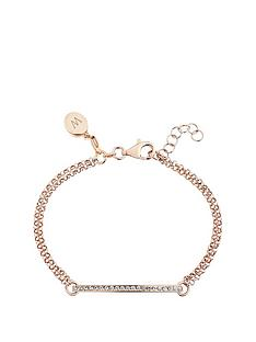 keepsafe-keepsafe-rose-gold-plated-sterling-silver-cubic-zirconia-bar-bracelet-with-personalised-clip-charm