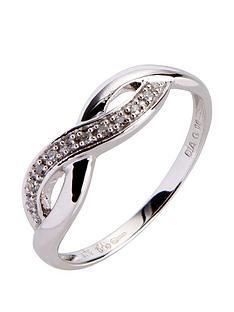 9ct-white-gold-6-point-diamond-infinity-ring