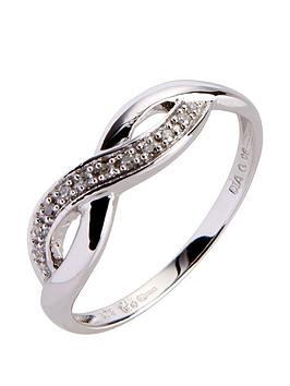 Love GOLD Love Gold 9Ct White Gold 6 Point Diamond Infinity Ring Picture