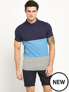 v-by-very-ss-colour-block-jersey-polo