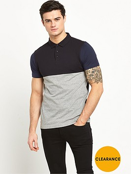 v-by-very-short-sleeve-cut-and-sew-polo