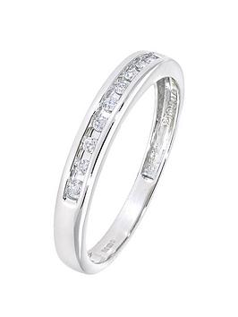 Love Diamond Platinum 10 Point Diamond Channel Set Eternity Ring