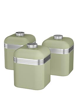 swan-retro-set-of-3-storage-canisters-green