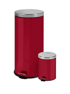 swan-retro-30-litre-and-5-litre-bin-set