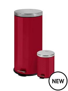 swan-retro-30-litre-and-5-litre-bin-set